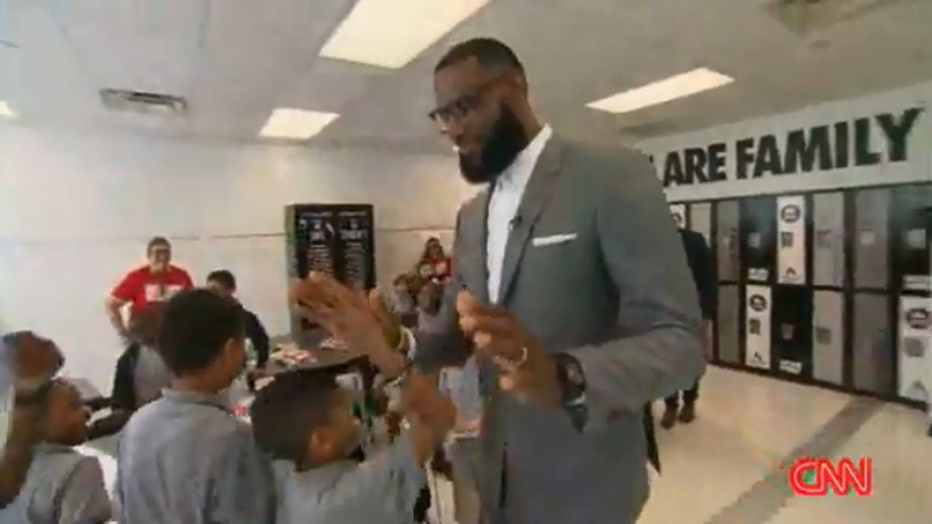 LeBron James building temporary housing at hometown school