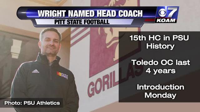 Wright named Pitt State head coach