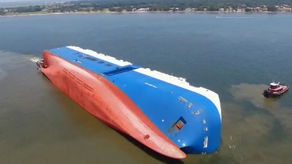 Crews have finished removing oil from overturned cargo ship