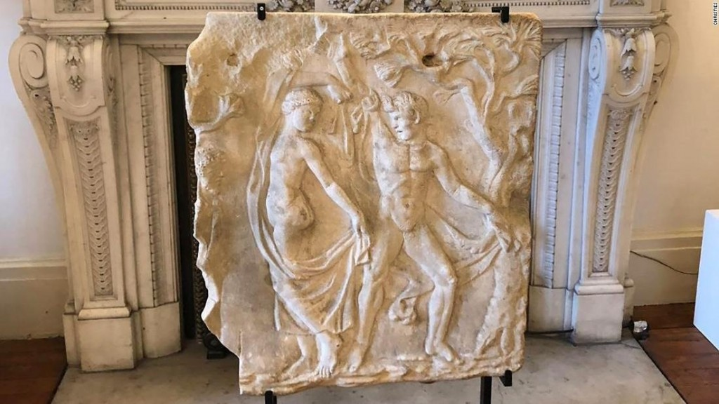 Ancient looted artworks returned to Italy by Christie's auction house