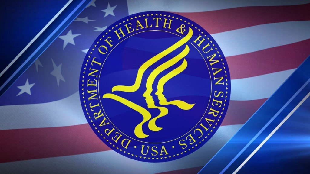 Department Of Health And Human Services Logo, Flag Background, Img Image
