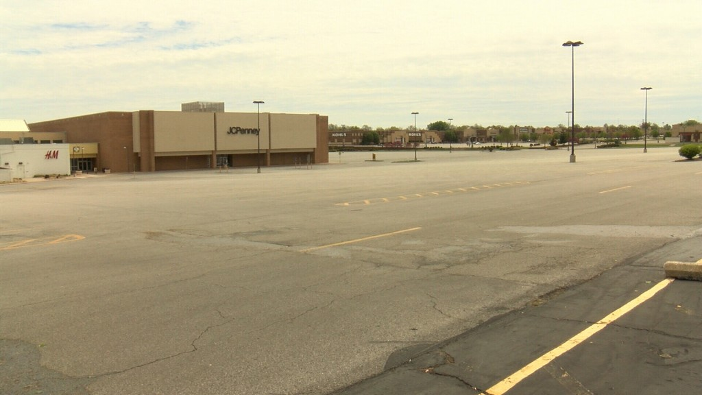Empty Parking Lot At Northpark Mall