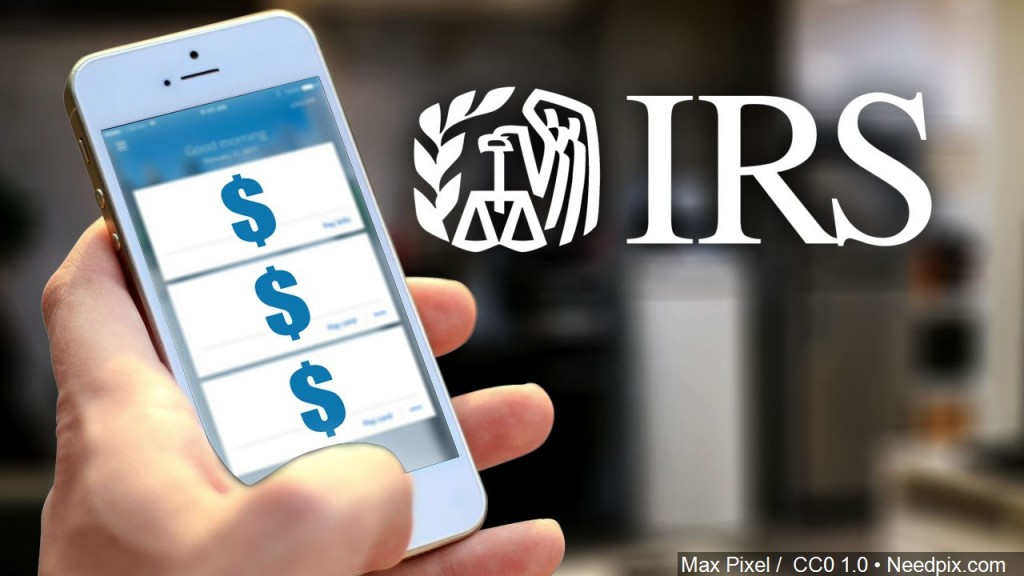 Irs Logo, Phone With Dollar Signs