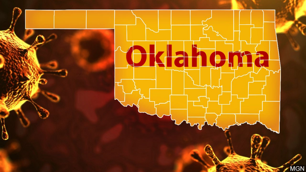 Map Of Oklahoma With Covid 19 Simulation