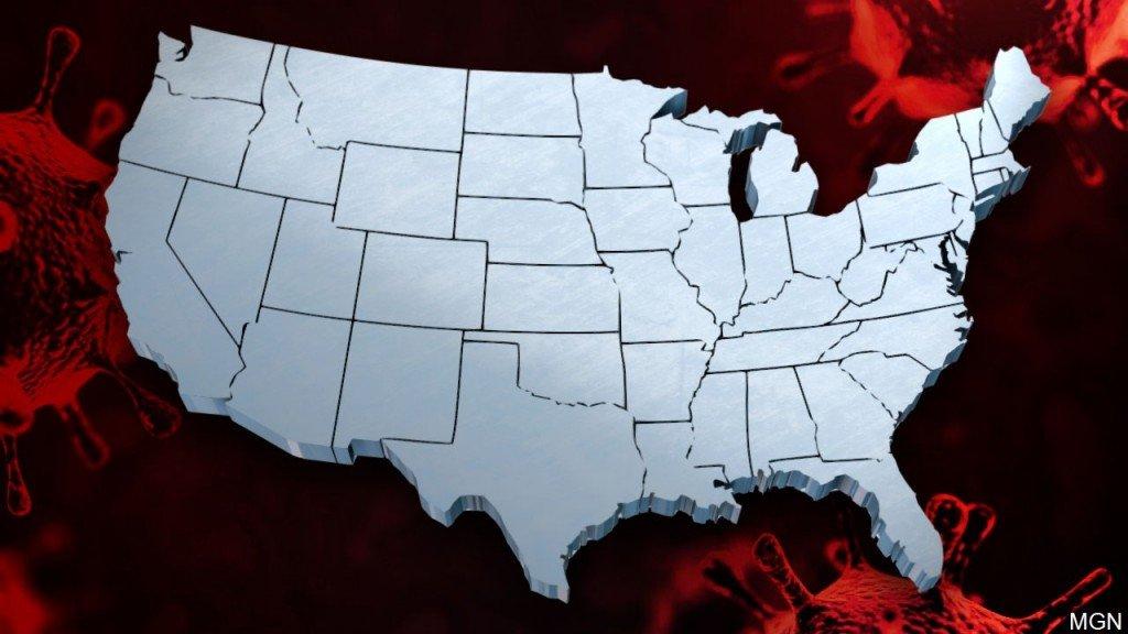 Map Of United States, Coronavirus Background, Mgn Image