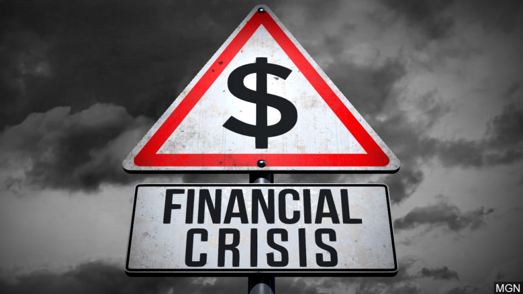 Generic financial crisis sign
