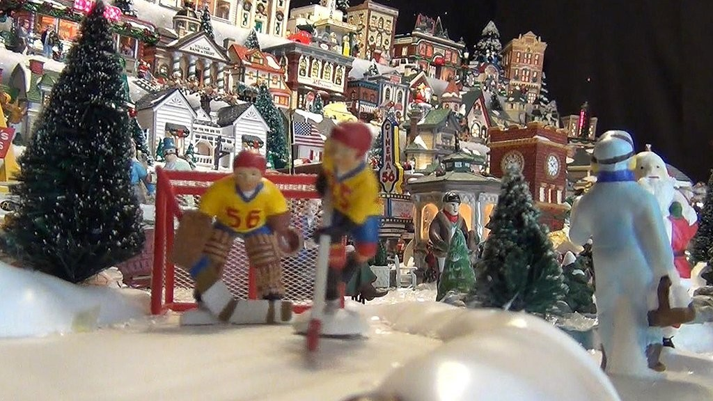Woman has 1,000-piece Christmas Village in her home