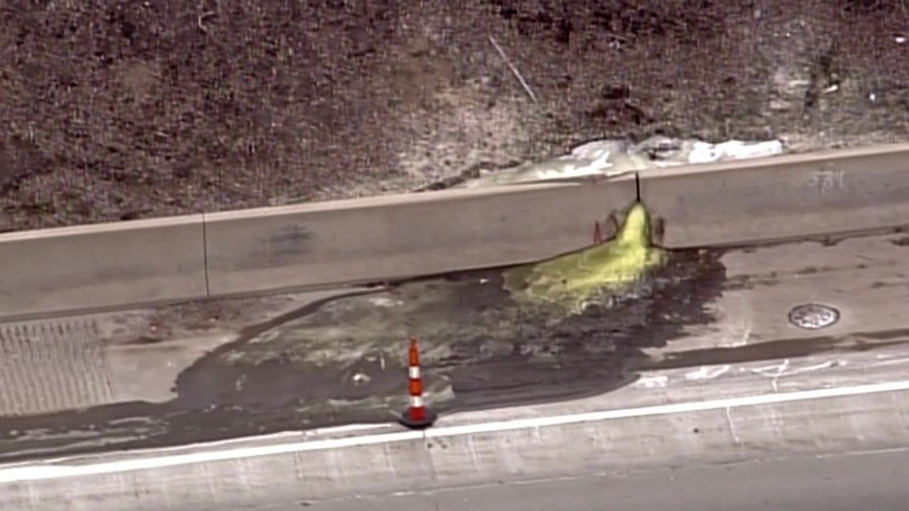 Cancerous green slime found oozing onto Detroit highway, officials say