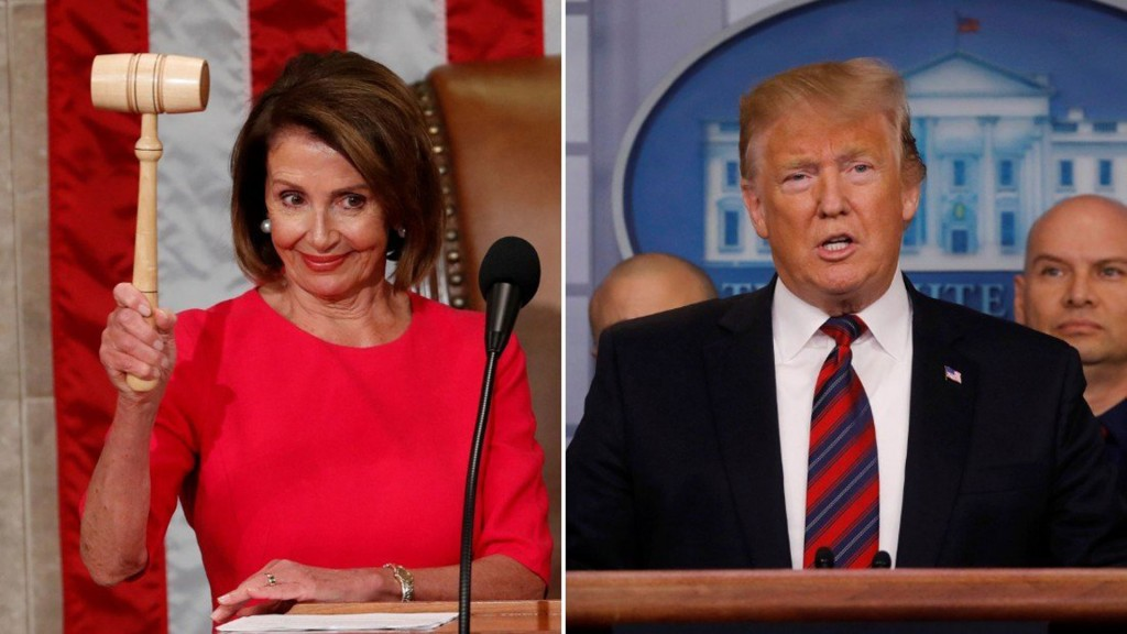 Congress-White House fight pauses for Pelosi and Trump to meet