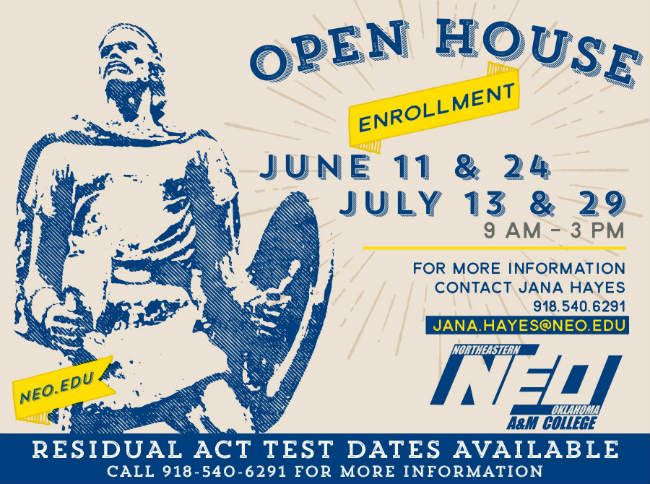 NEO to host Open House Enrollment summer sessions
