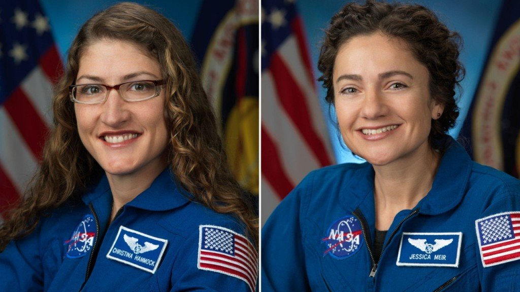 Astronauts Christina Koch and Jessica Meir successfully complete first all-female spacewalk