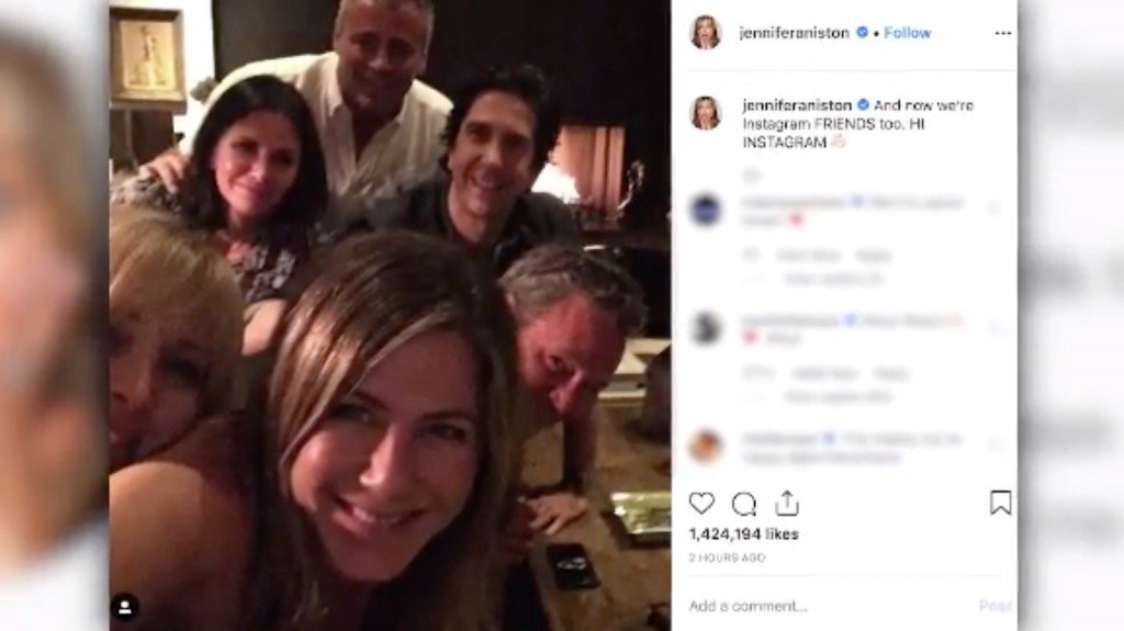 Jennifer Aniston literally broke Instagram with her debut