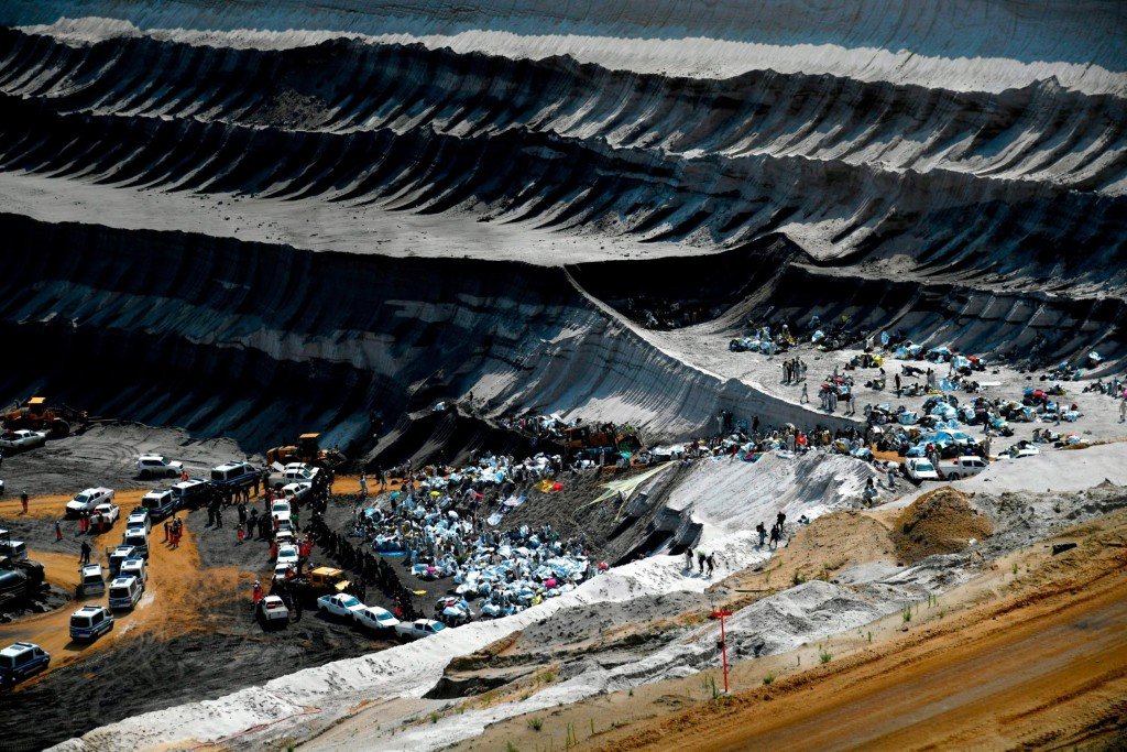 Hundreds of climate protesters stage blockade in German coal mine