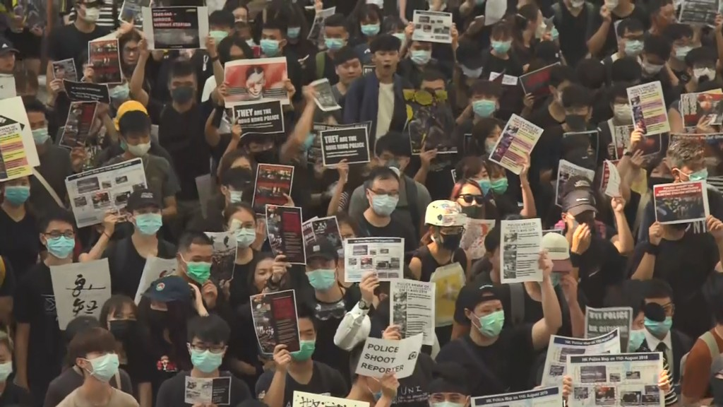 Hong Kong airport sees dramatic drop in passengers amid protests