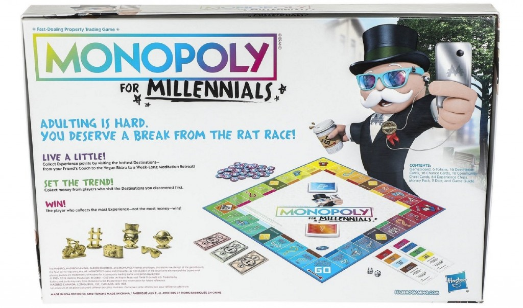 Monopoly for Millennials not about real estate