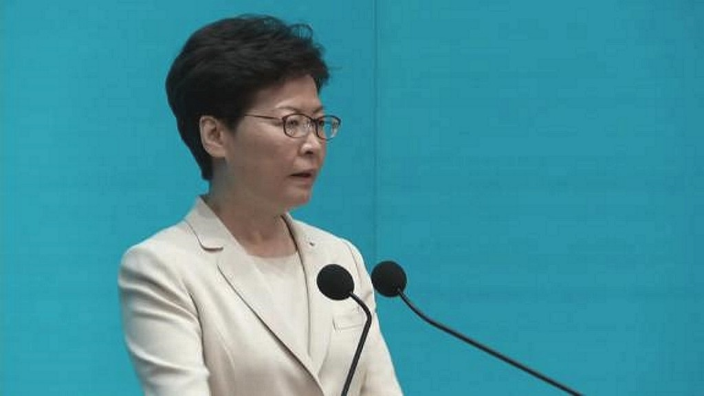Leak: Carrie Lam says she'd quit as Hong Kong leader if she could