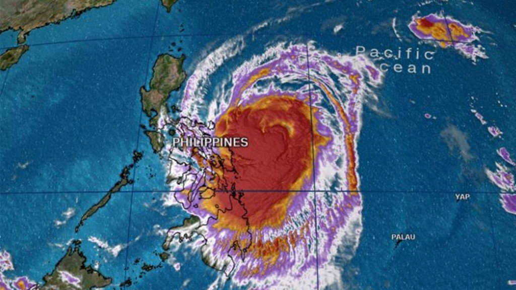 Thousands evacuated as rare December typhoon heads to Philippines