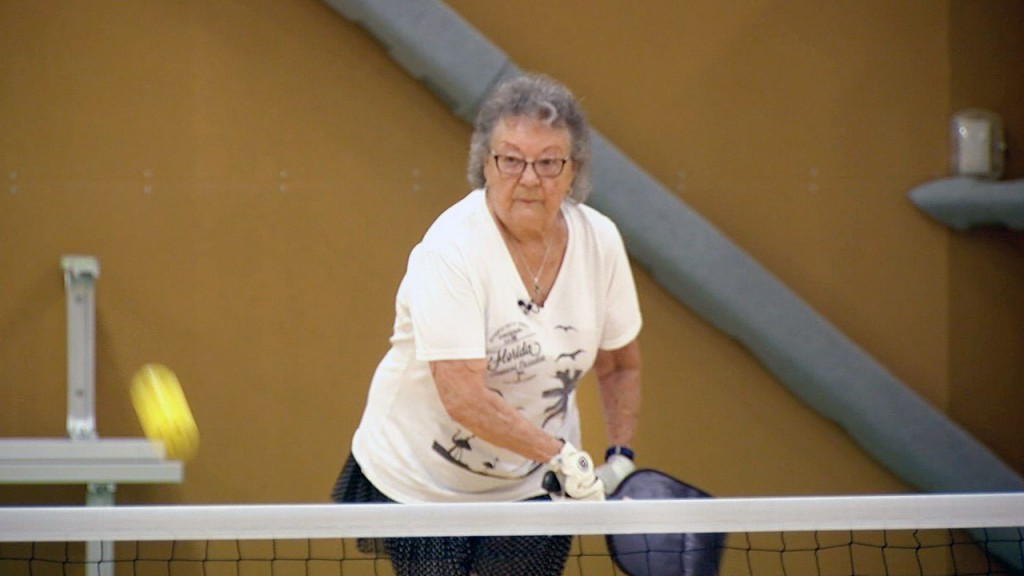 90-year-old plays pickleball for more than just fun