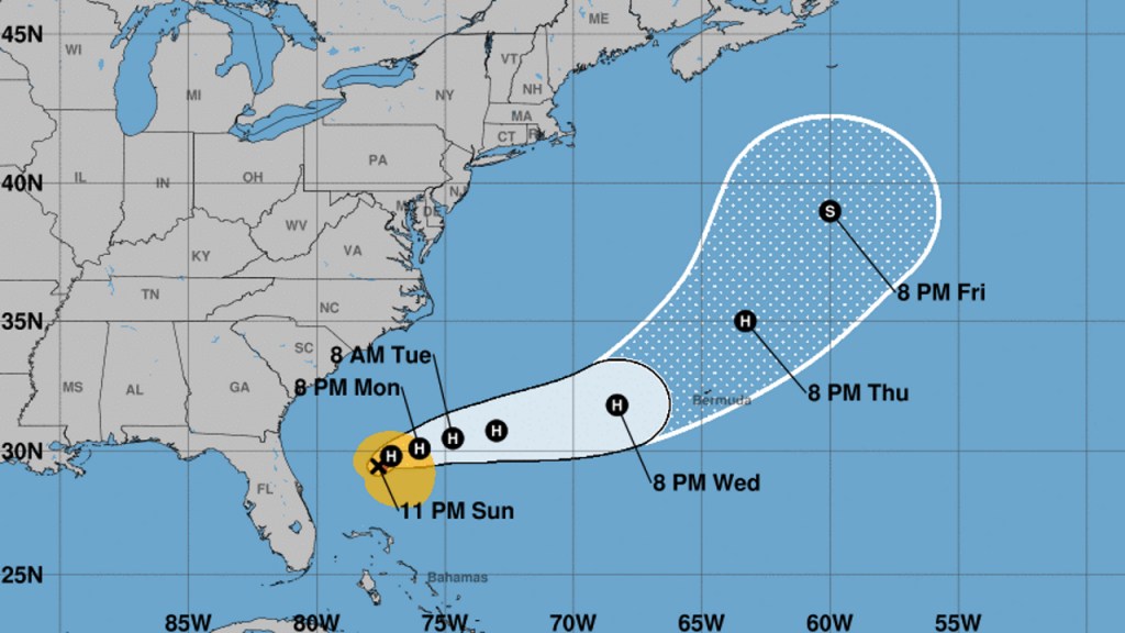 Humberto strengthens to Category 1 hurricane