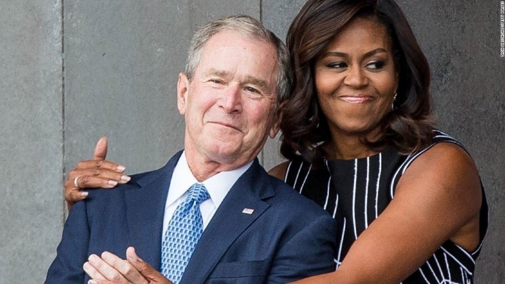 Michelle Obama opens up about her friendship with George W. Bush