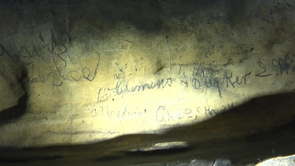 Mark Twain signature found in cave