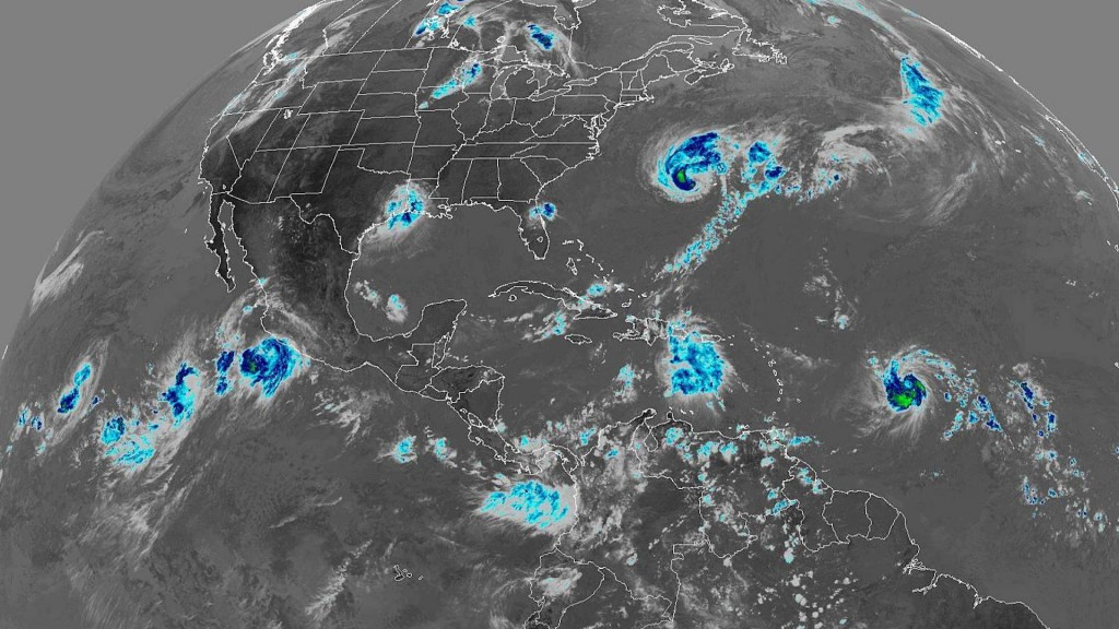There are 6 named storms in the Western Hemisphere