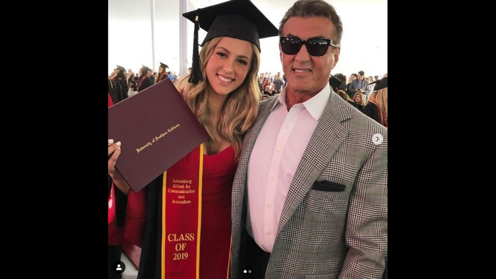 Sylvester Stallone celebrates daughter Sophia's graduation from USC