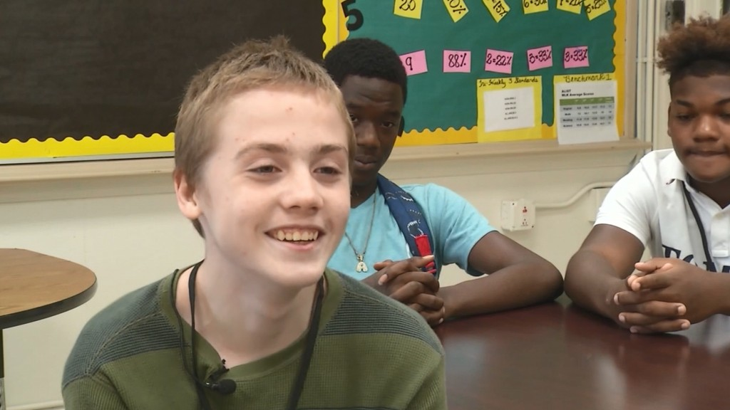 Students give bullied boy special gift