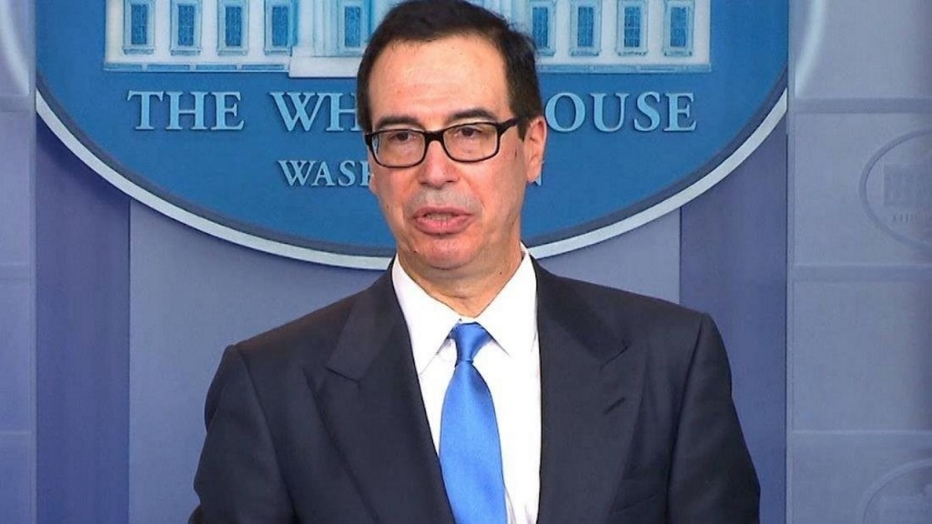US government running out of money faster than expected, Mnuchin warns