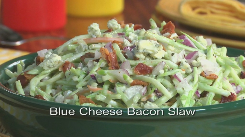 Mr. Food: Blue Cheese Bacon Slaw