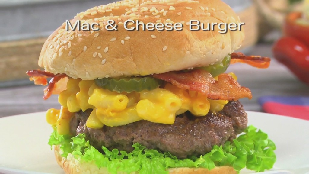 Mr. Food: Mac & Cheese Burger