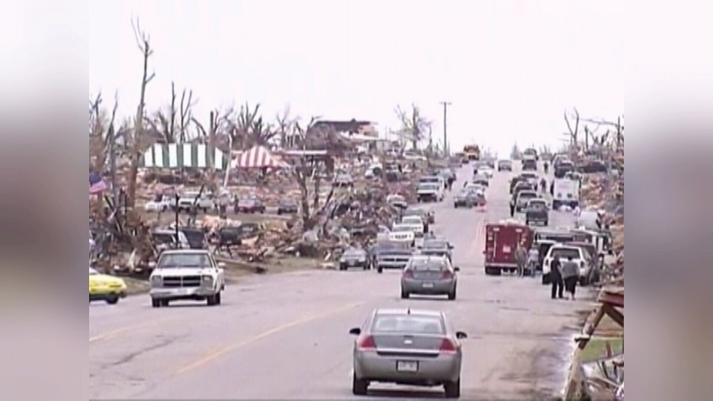 Devestation following the EF-5 tornado in Joplin