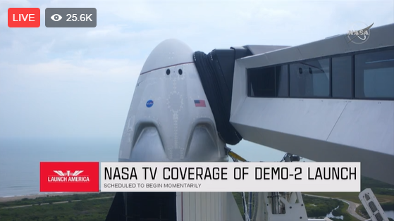 Nasa Facebook Live, Spacex