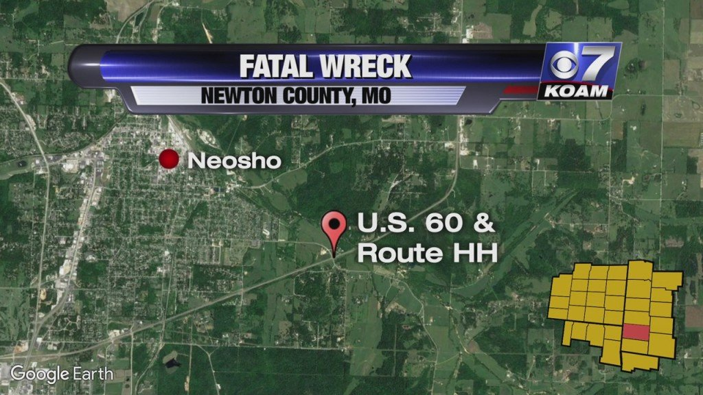 map of Fatal Wreck In Newton County