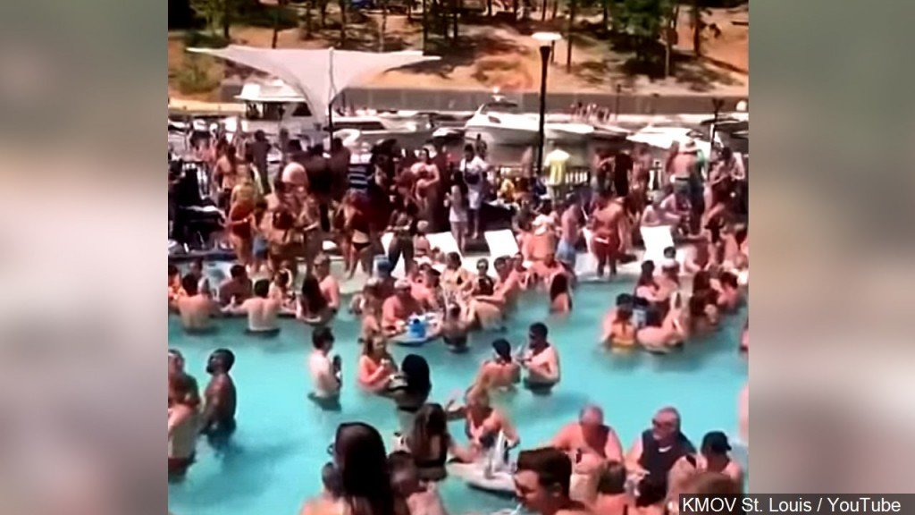 Hundreds Of People Were Packed Into A Pool And No One Was Seen Wearing A Mask, Lake Of The Ozarks, Missouri, Photo Date 5242020
