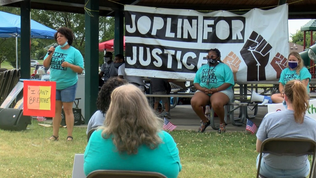 Joplin For Justice holds its third event of the month at Parr Hill Park.