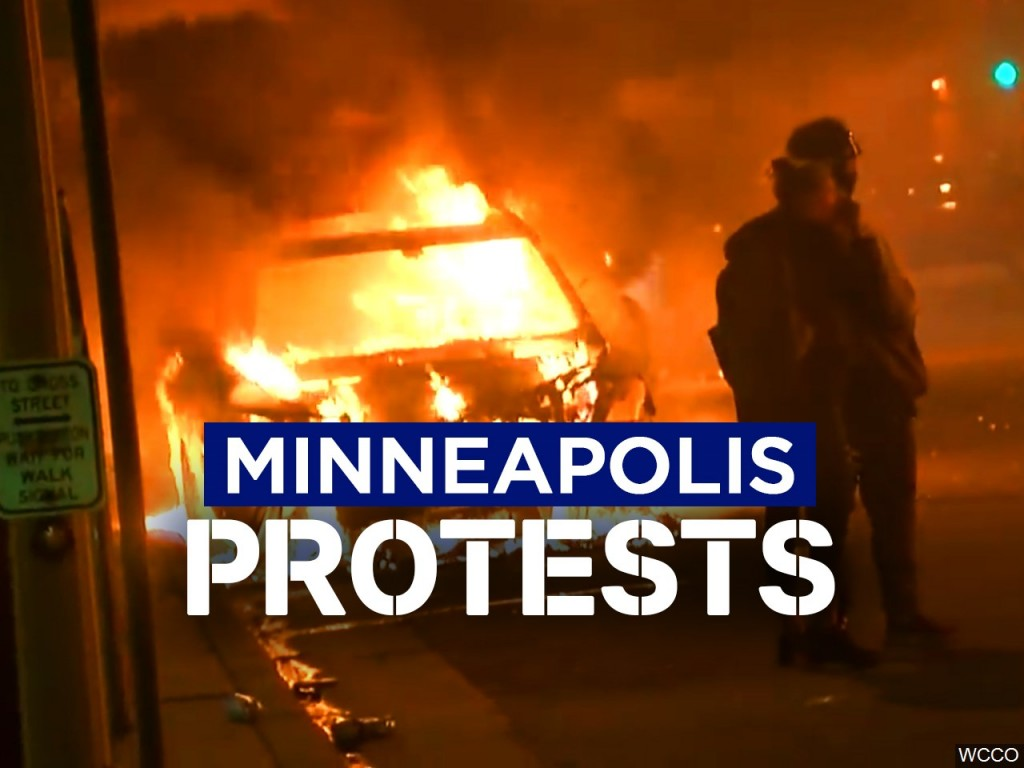 Semi rolls into Minneapolis protesters; no apparent injuries