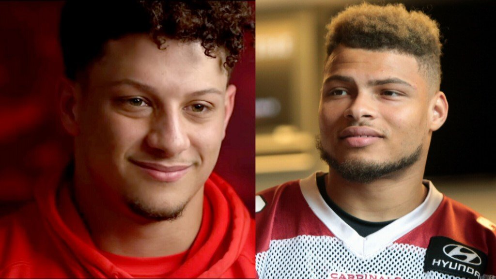 Patrick Mahomes and Tyrann Matheiu