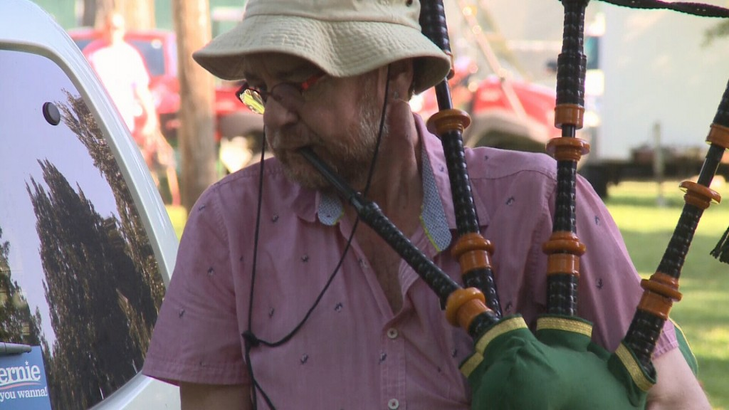 A Bagpipe Player At A Past Little Balkans Days Festival