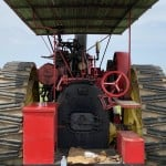 Driver View Of A Antique Tractor