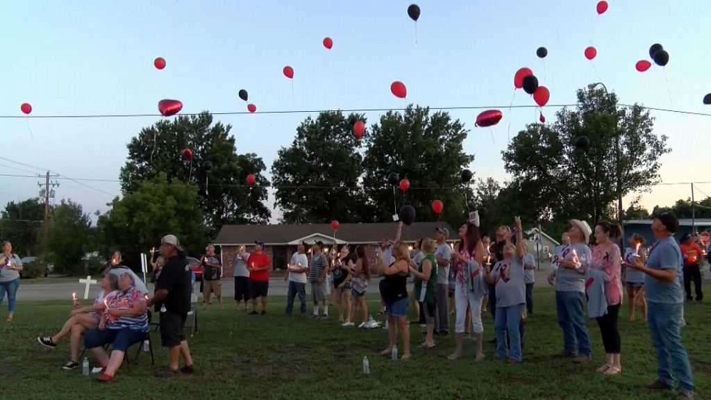 Balloons Released At Vigil For Dusty Miller
