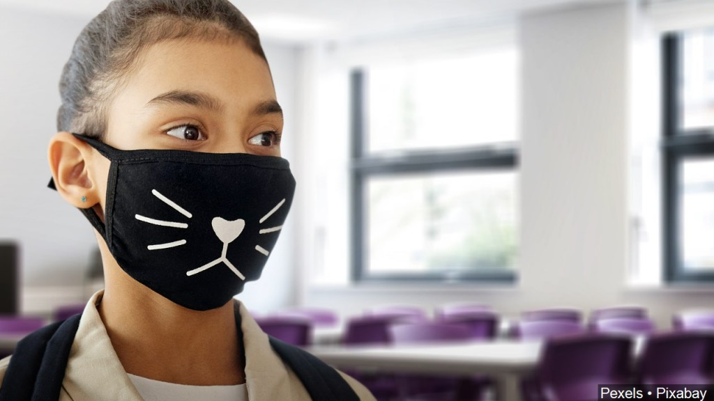 Student With Mask On In Classroom, Mgn Image