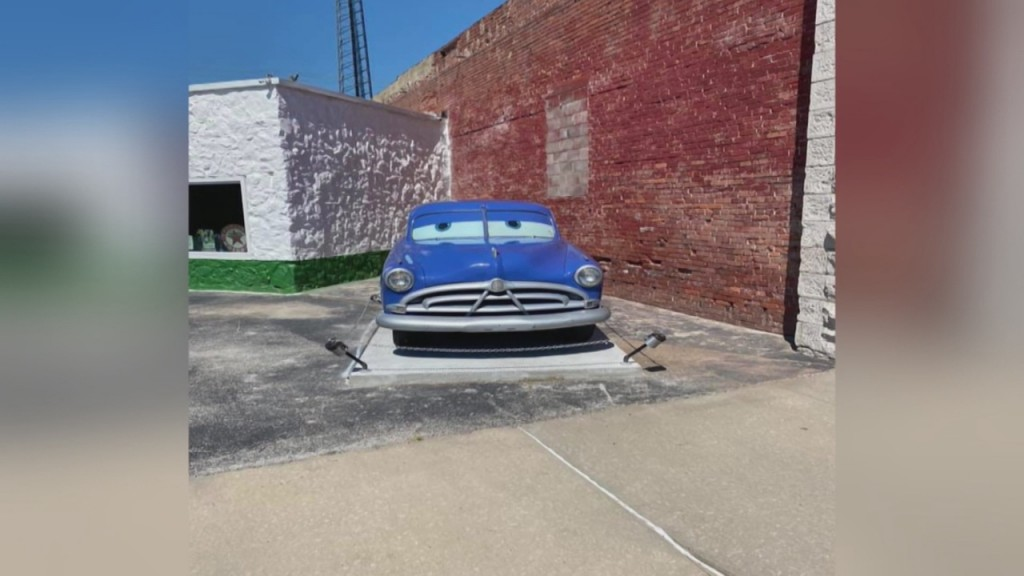 "Doc Hudson From The Movie ""cars"" Is Now Proudly On Display At Gearhead Curios Downtown"