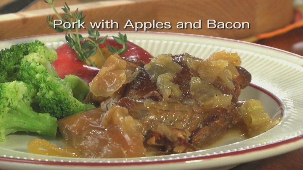Mr. Food: Pork With Apples And Bacon