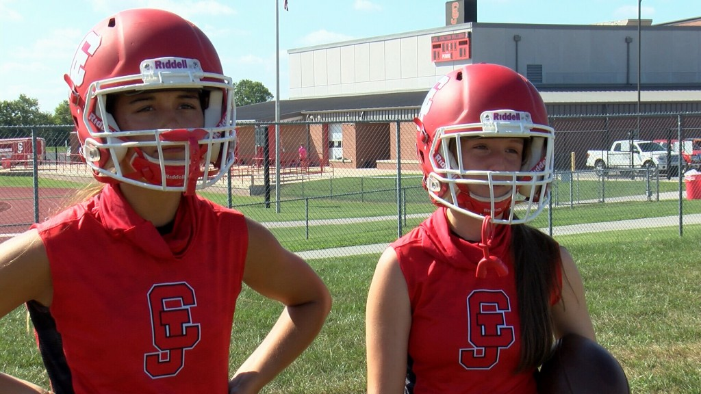 Emma Lacey and Constance Graham become the first female athletes to play football for the Bulldogs