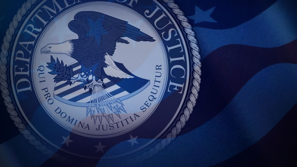 Department Of Justice Logo, Us Flag, Mgn Image