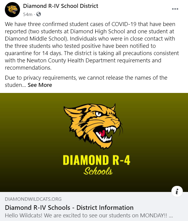 Diamond R Iv Schools District Information