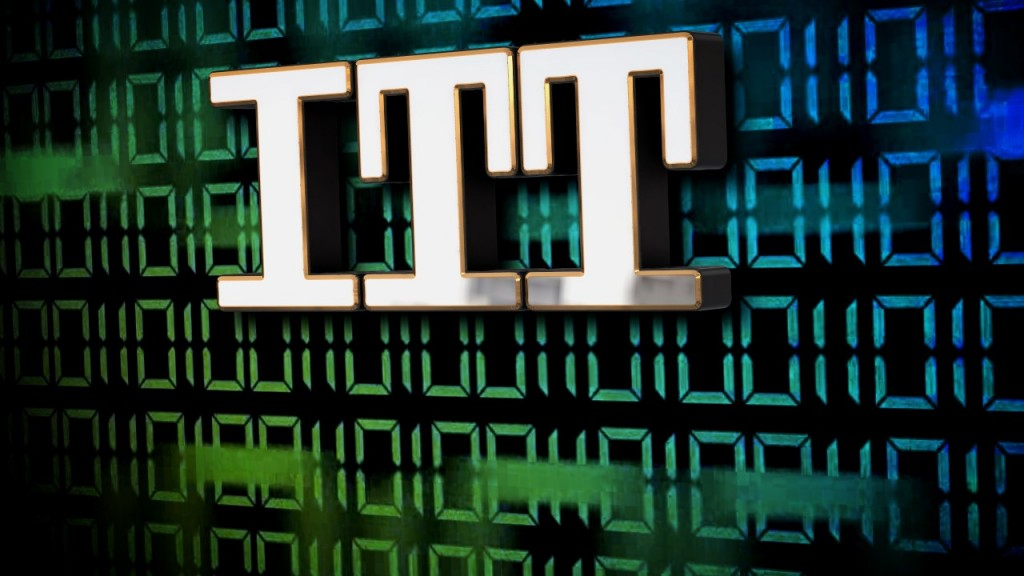 Itt Logo And Binary Code Background