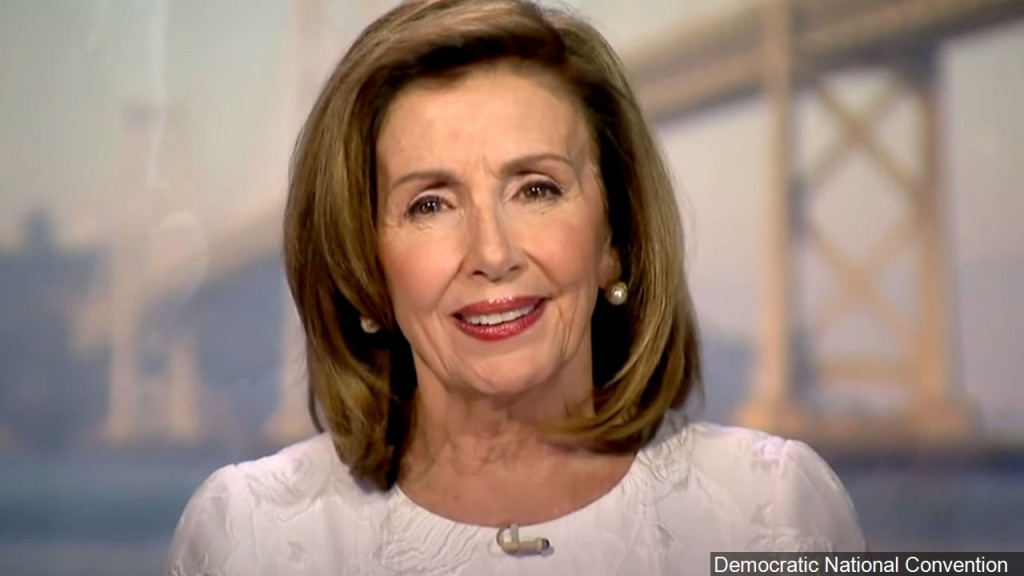 Photo Nancy Pelosi, Speaker Of The Us House Of Representatives Gives Her Speech At The 2020 Dnc., Photo Date August 19, 2020