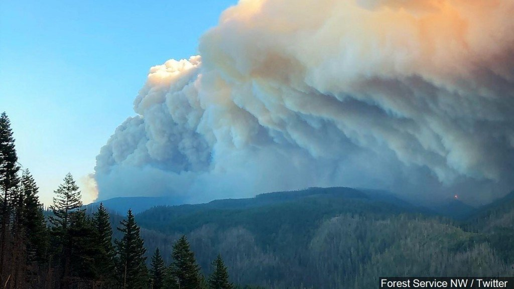 Smoke From The West Coast Wildfires, Photo Date 9142020